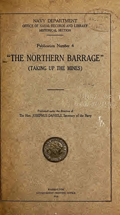 "Cover image of ""Northern Barrage: Taking Up the Mines."""