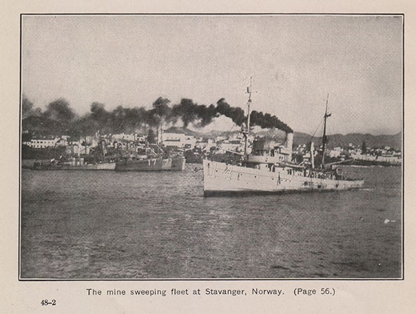 The minesweeping fleet at Stavanger, Norway. (Page 56.)