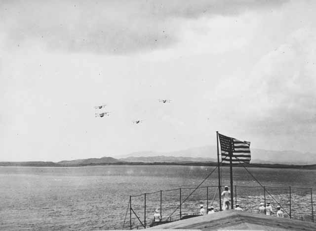 Flying Boats, Atlantic Fleet Air Force - Arrival at Guantanamo from Panama, February 1921.