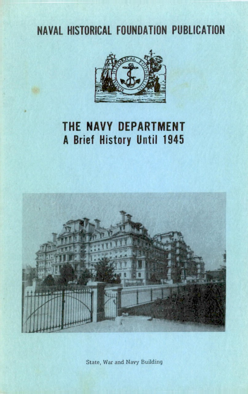 Cover - The Navy Department A Brief History until 1945