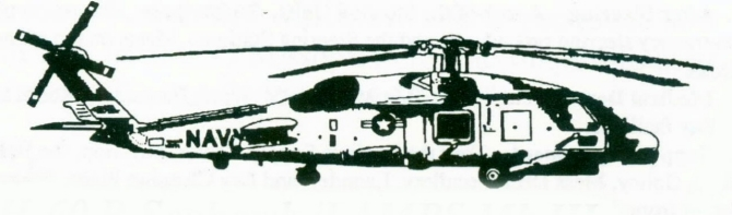 Picture of SH-60B Seahawk Helicopter.
