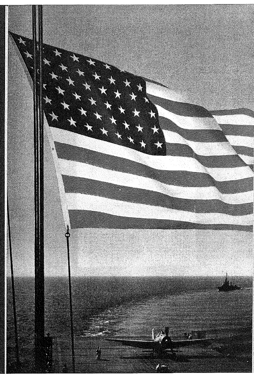<p>US Flag, back inside cover&nbsp;</p>
