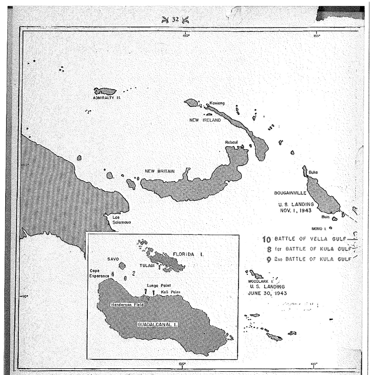 <p>Map of US Landings&nbsp;</p>