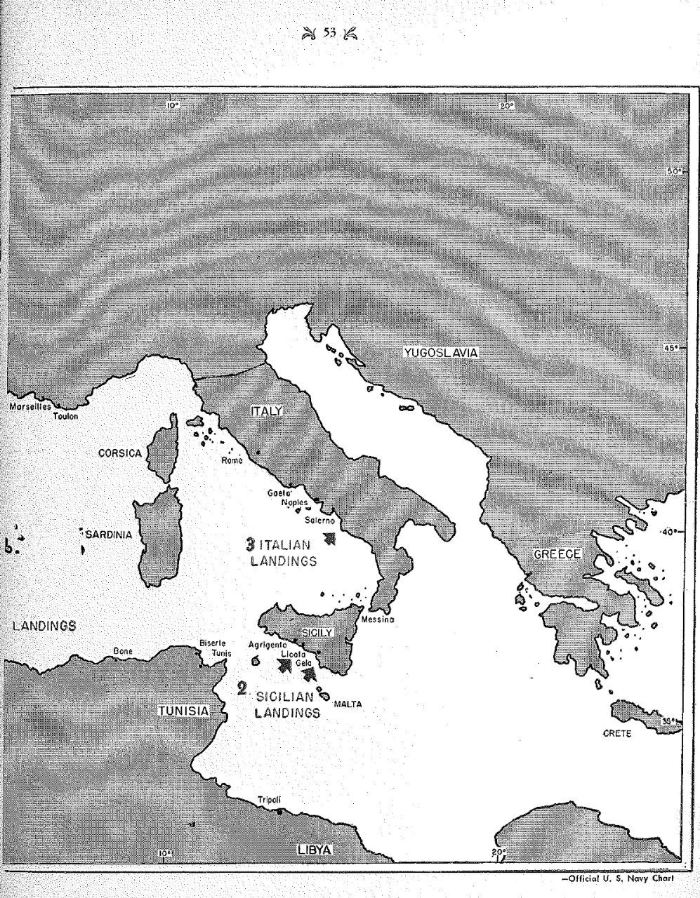 <p>Map of Landings&nbsp;</p>