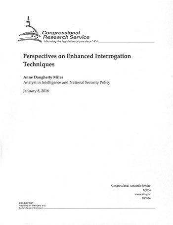 Perspectives on Enhanced Interrogation Techniques cover image.