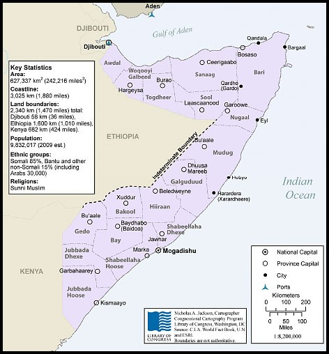 Figure 2. Somalia Map