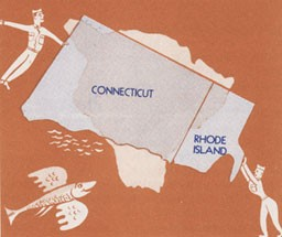 Illustration showing size of Hawaii compared to Connecticut and Rhode Island.