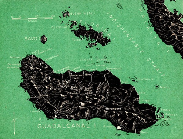 Map of Guadalcanal.