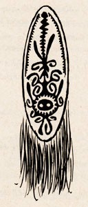 Melanesian decorated shield.