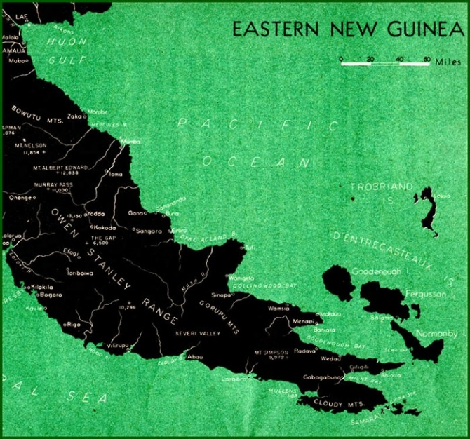 Map: Eastern New Guinea [Papua].