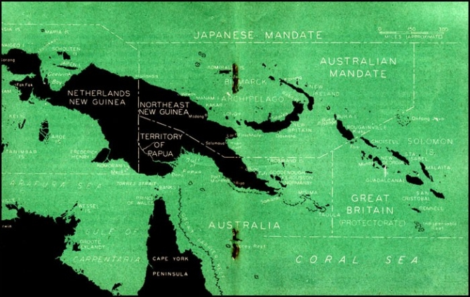 Map of New Guinea-Solomons area.