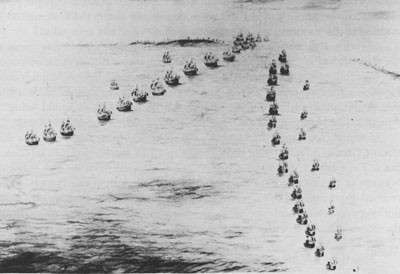 The French Fleet coming out of the Chesapeake around Cape Henry.