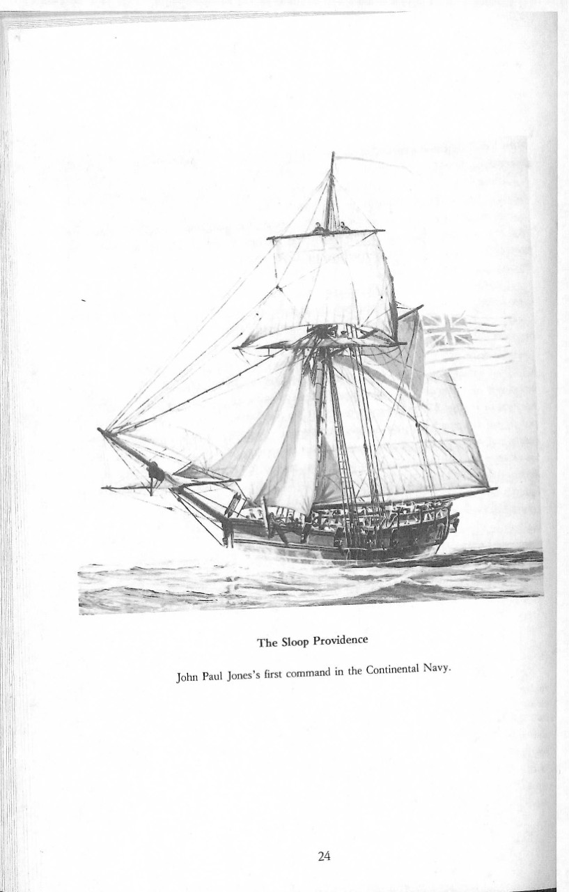 <p>The Sloop Providence; John Paul Jones's first command in the Continental Navy.&nbsp;</p>