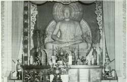 Altar of famed Xa Loi pagoda in Saigon points up splendor and vastness of larger Buddhist places of worship.