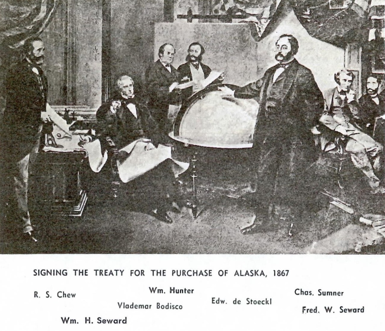 Signing the treaty for the purchase of Alaska, 1867