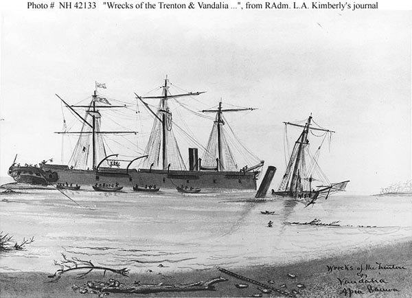 Wrecks of Trenton and Vandalia.