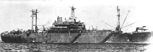 USS Blueridge, Force Flagship December 43 to June 45.