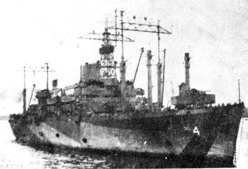USS Ancon June 45 to Sept. 45.