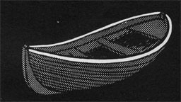 Drawing of a boat with the gunwale section highlighted.