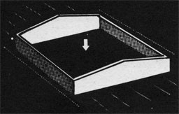 Drawing of an opening in the deck.