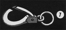 Drawing of a lip hook.