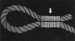 Drawing of a rope seized by marlin.