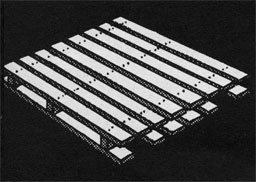 Drawing of a wooden pallet.