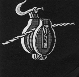 Drawing of a snatch block.