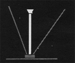 Drawing of a pole mast.