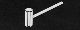 Drawing of a serving mallet.