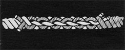 Drawing of two pieces of rope spliced together.