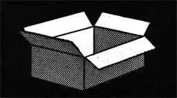 Drawing of an open box.
