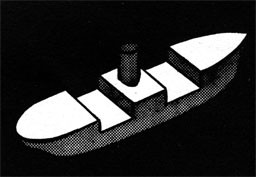 Drawing of a ship with the weather deck highlighted.