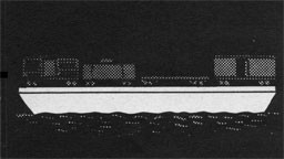 Drawing of a barge ferrying railroad cars.