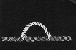 Drawing of a piece of line spliced on another line to form an eye