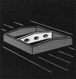 Drawing of a hatch with a cross beam.