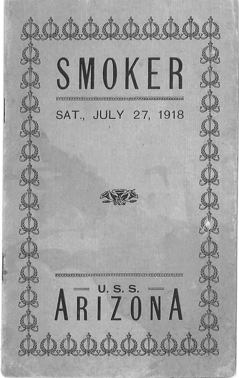 Smoker, Sat., July 27, 1918, U.S.S. Arizona cover