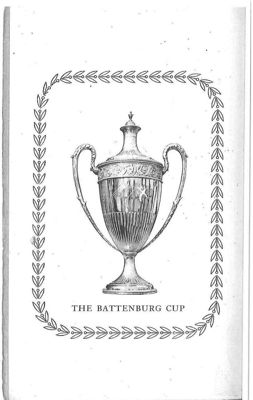<p>The Battenburg Cup</p>