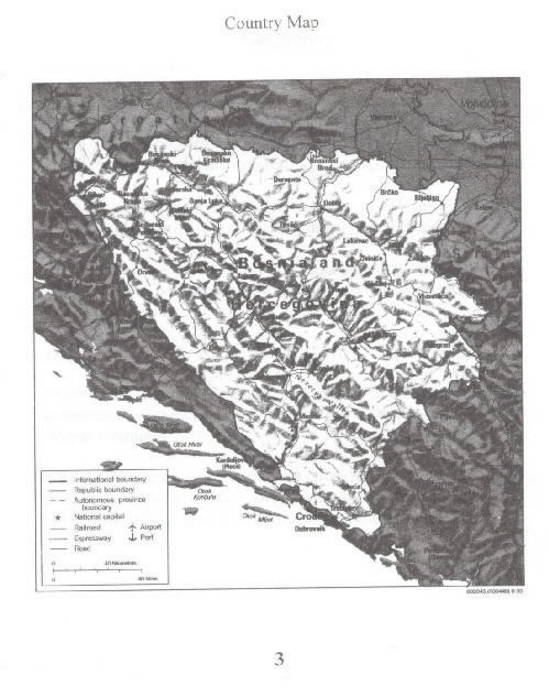 Image of Country map Bosnia-Herzegovina