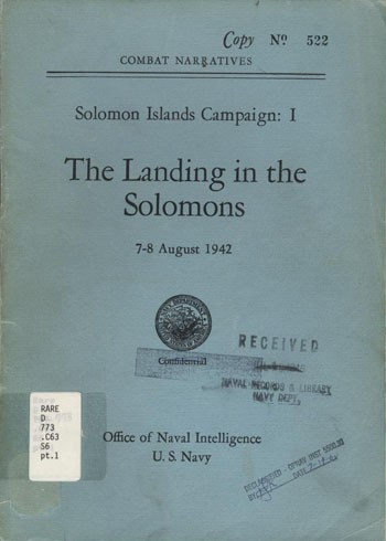 Image of 'The Landing in the Solomons' cover.