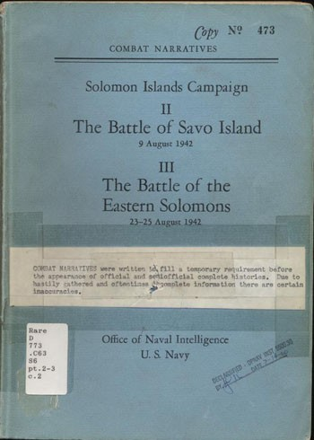 Cover of Solomon Islands Campaign II & III.