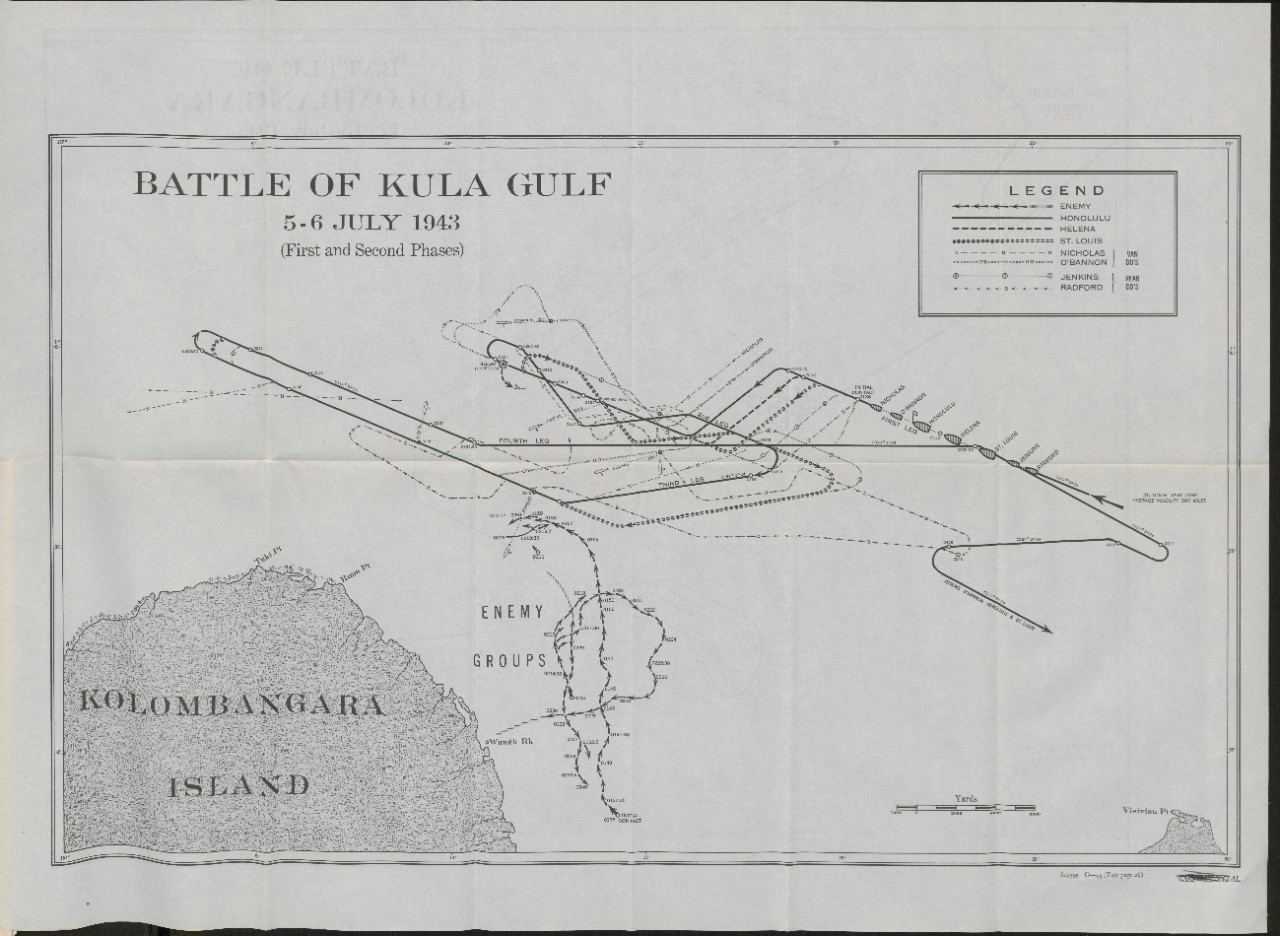 Map of Battle of Kula Gulf 5-6 Jul Side 1</p>