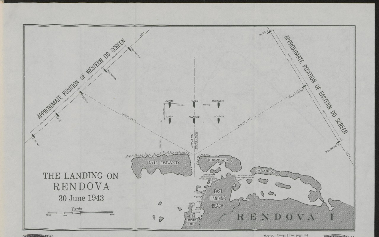 Map - Landing on Rendova - side 1