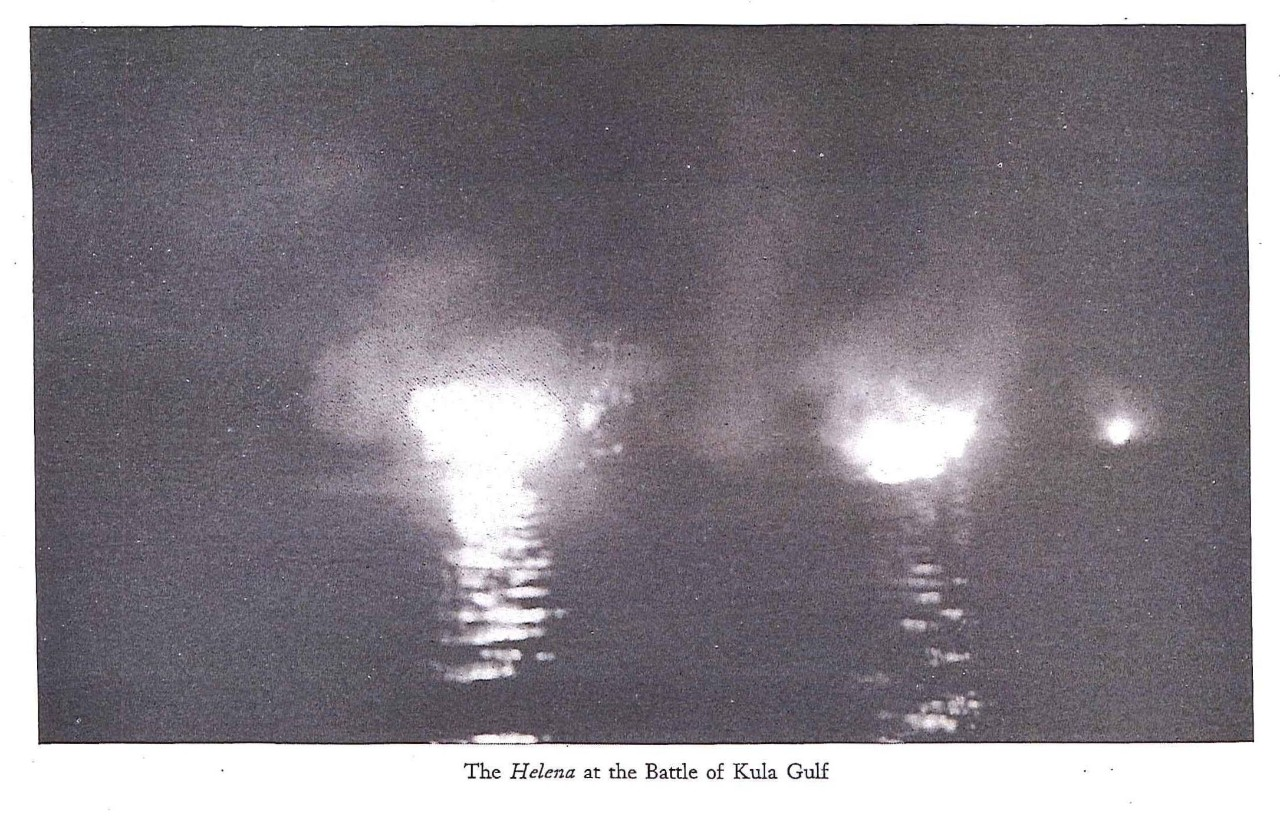 The Helena at the battle of Kula Gulf