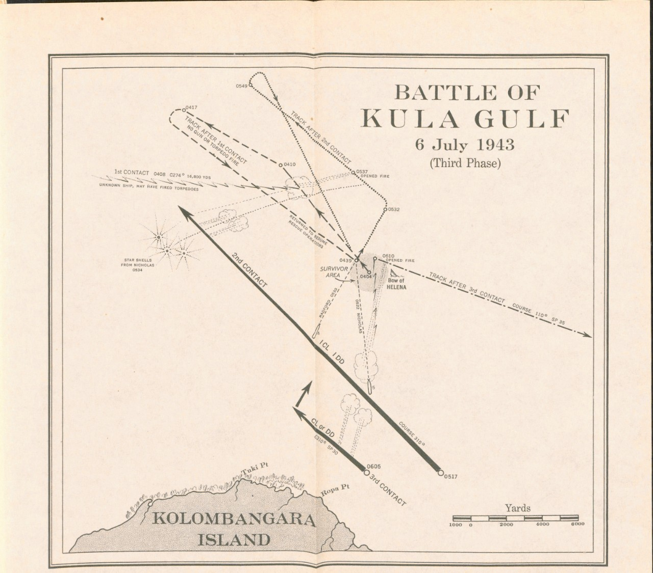 Battle of Kula Gulf 6 July 1943
