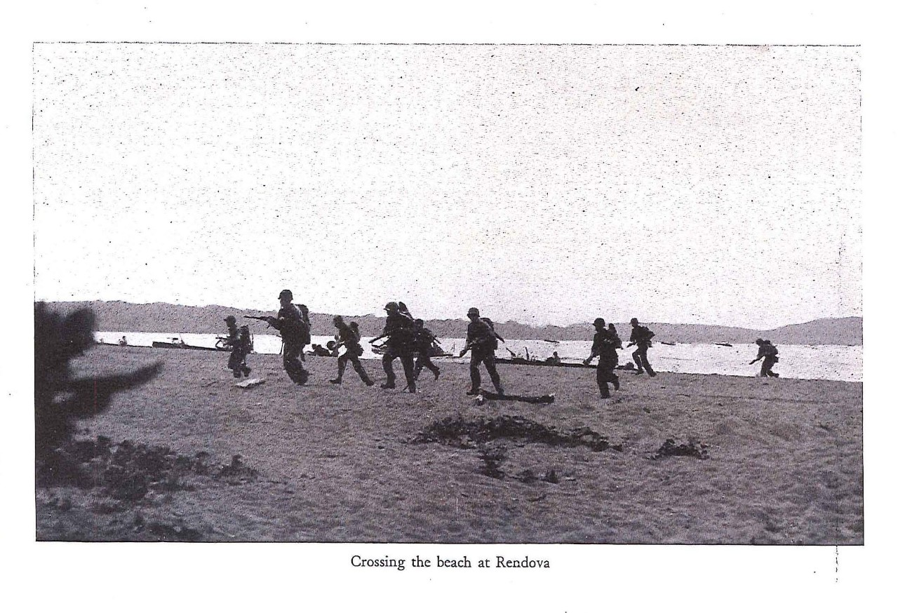 Crossing the beach at Rendova