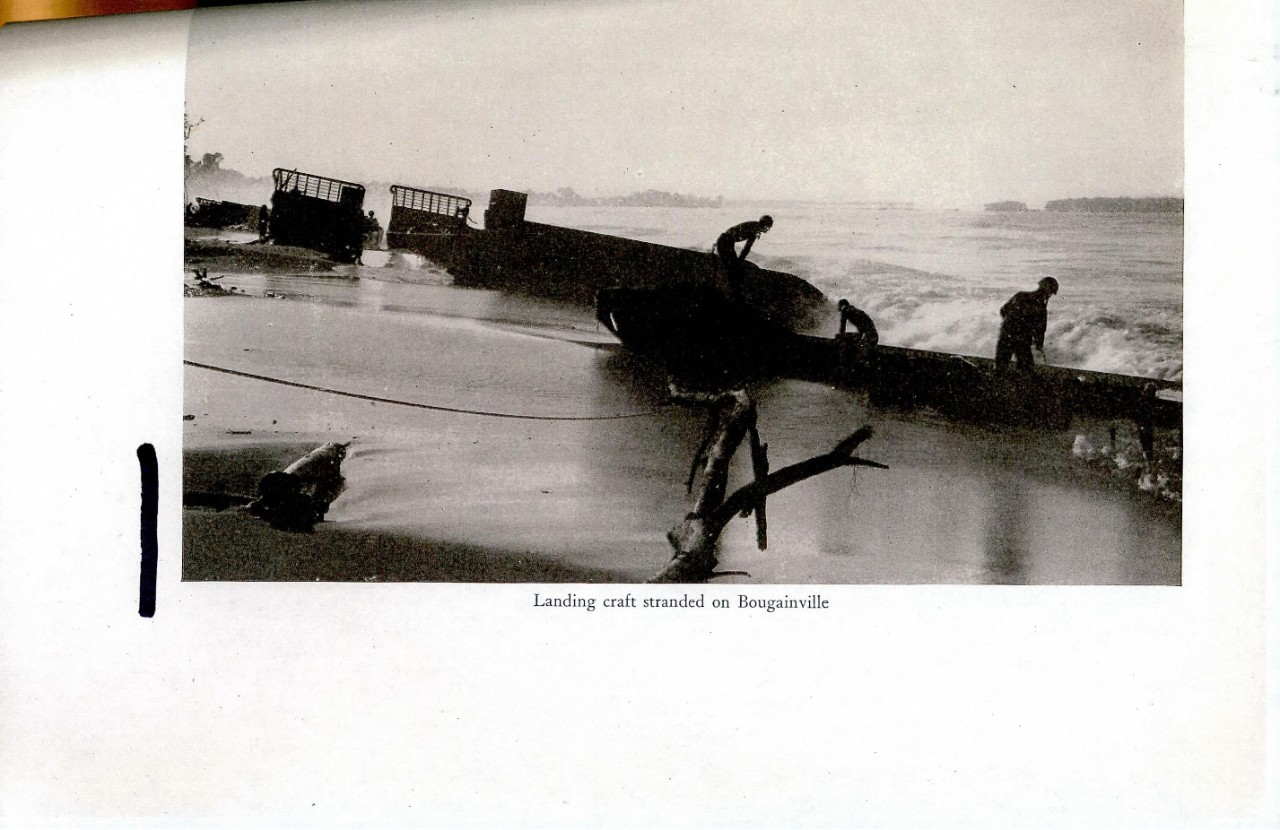 Landing craft stranded on Bougainville