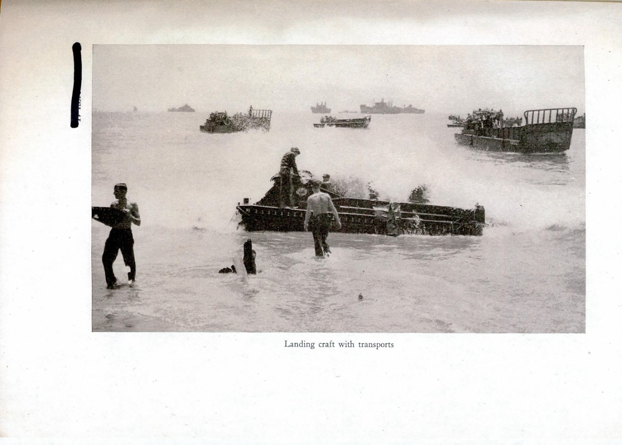 Landing craft with transports