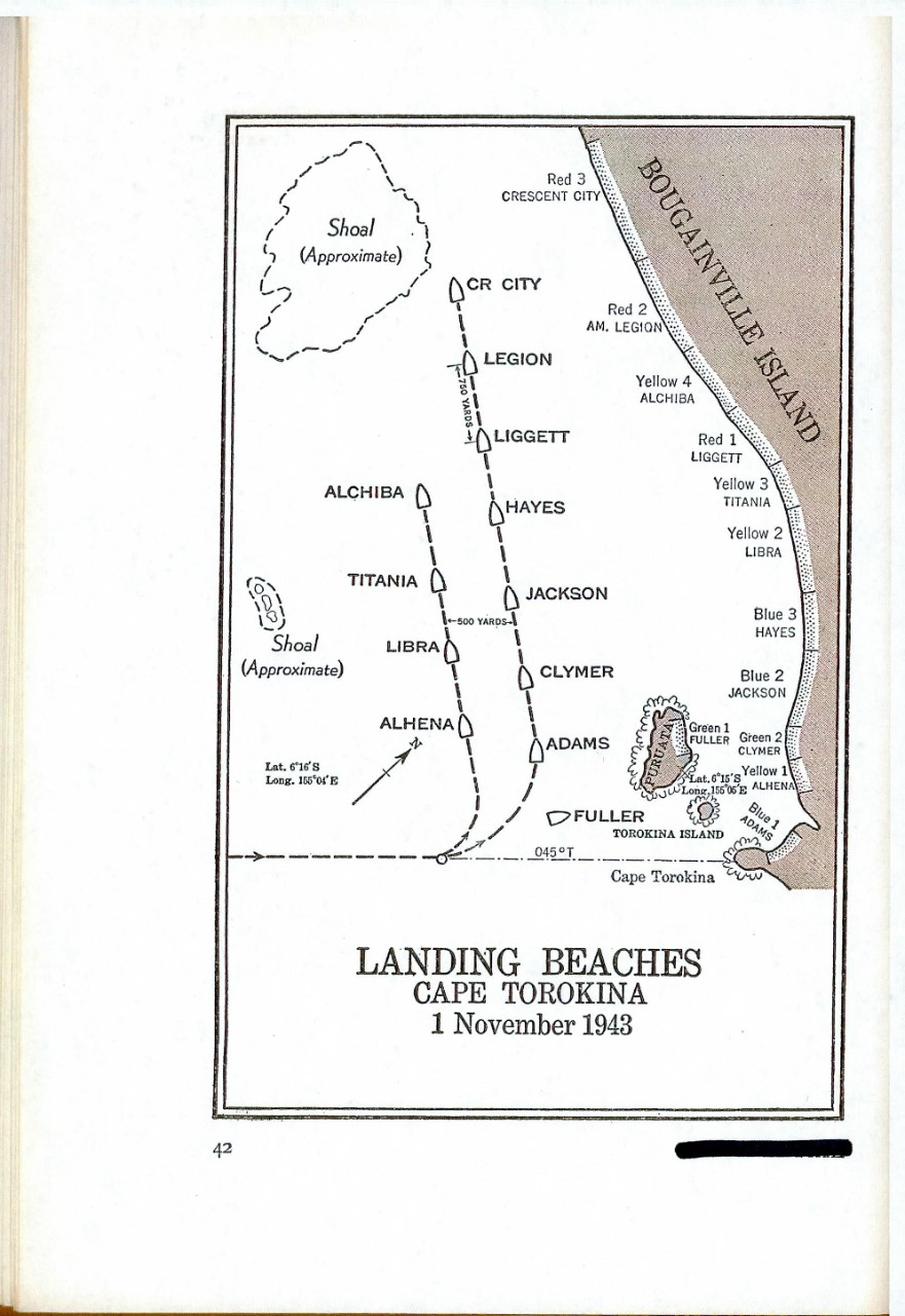 Landing Beaches, Cape Torokina, 1 November 1943
