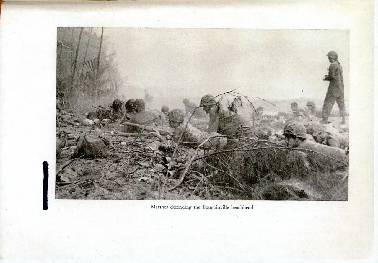 Marines defending the Bougainville beachhead